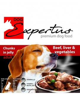 Expertus Beef, Liver, Vegetable in Jelly