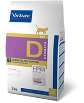 VIRBAC HPM DIET CAT DERMATOLOGY SUPPORT 3kg