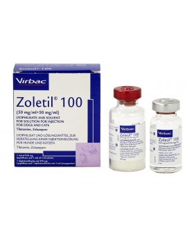 Zoletil 100 inj. pulv.+šķīd. 5 ml