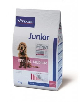 Virbac HPM Dog Junior Special Medium Suņu Barība