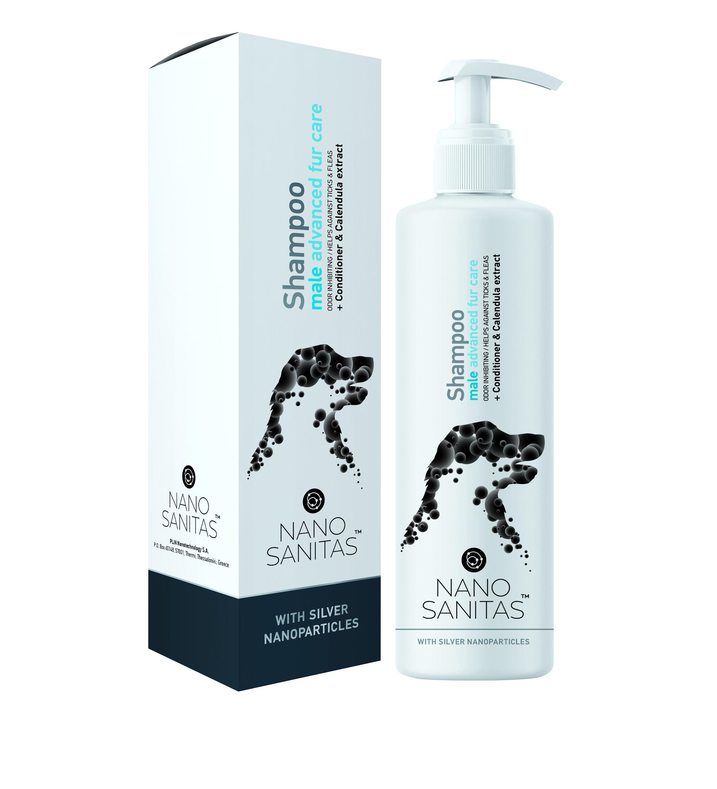 Nano Sanitas Male Advanced Fur Care Shampoo 250 ml
