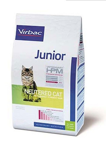 Virbac HPM Cat Junior Neutered kaķu barība