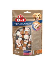 8in1 Triple Flavour kārums suņiem XS 294 g N21 kauliņi košļāšanai ar vistas fileju