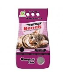 Certech Compact Line Super Benek 5 L smiltis kaķu tualetēm ar lavandas aromātu