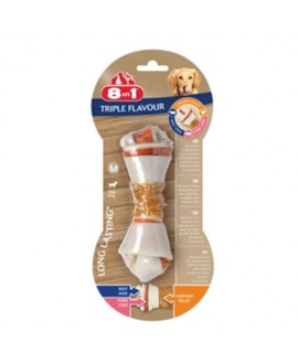 8in1 Triple Flavour kārums suņiem M 65 g N1 kauls košļāšanai ar vistas fileju