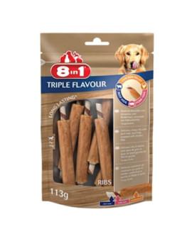 8in1 Triple Flavour Ribs kārums suņiem 113 g N6 ribiņa ar vistas fileju