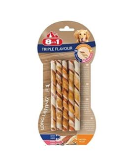 8in1 Triple Flavour Twsticks kārums suņiem 70 g N10 nūjiņa košļāšanai ar vistas fileju