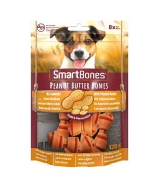 SmartBones kārums suņiem Chew Bones Mini 128 g N8 ar zemesriekstu sviestu un vistas fileju
