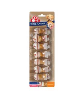 8in1 Triple Flavour kārums suņiem XS 98 g N7 kauliņi košļāšanai ar vistas fileju