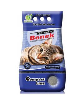 Certech Compact Line Super Benek 5 L smiltis kaķu tualetēm ar jūras brīzes aromātu
