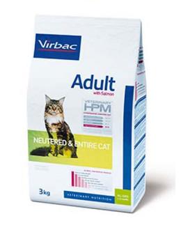 Virbac HPM Cat Adult Neutered & Entire Cat kaķu barība with salmon